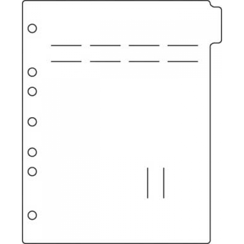 Side Open Poly Divider Page Blank Tab (M2260)