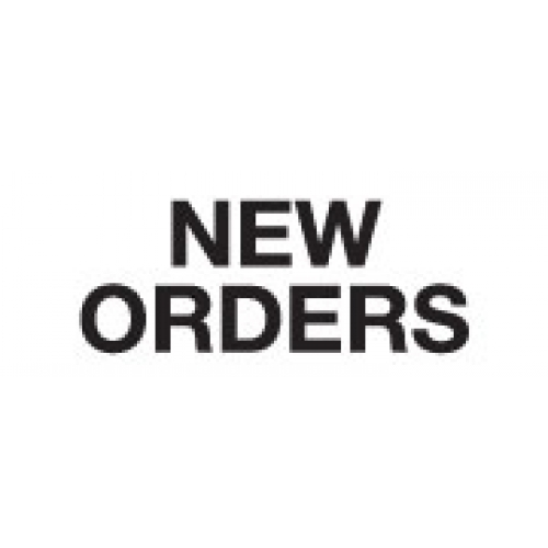 """""""NEW ORDERS"""" White Label 2 1/4"""" x 15/16"""""""
