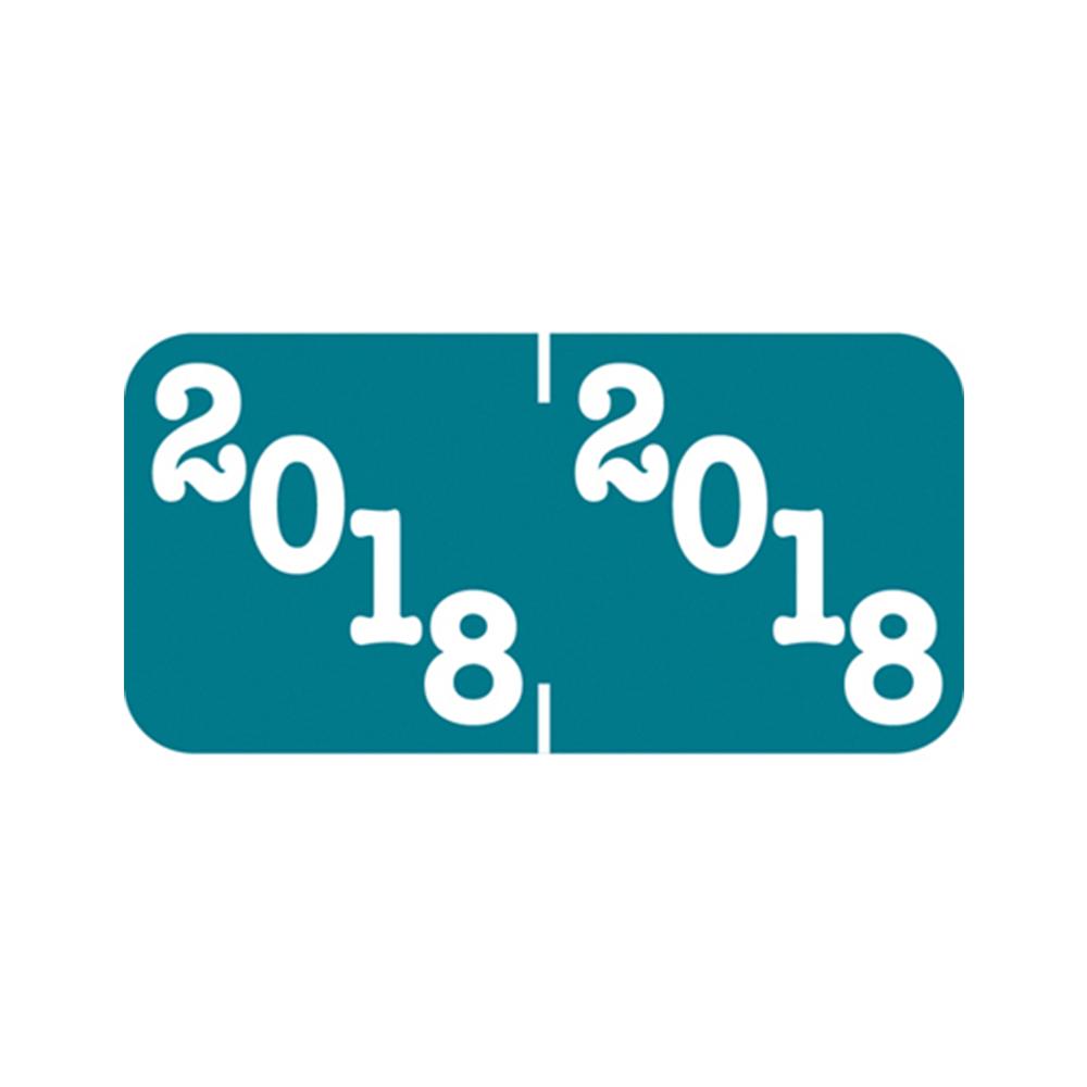 """""""2018"""" Year Label 3/4"""" W x 1-1/2 H, 500/Roll"""