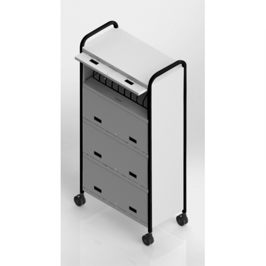 S/O 48 Capacity Gray Chart Rack