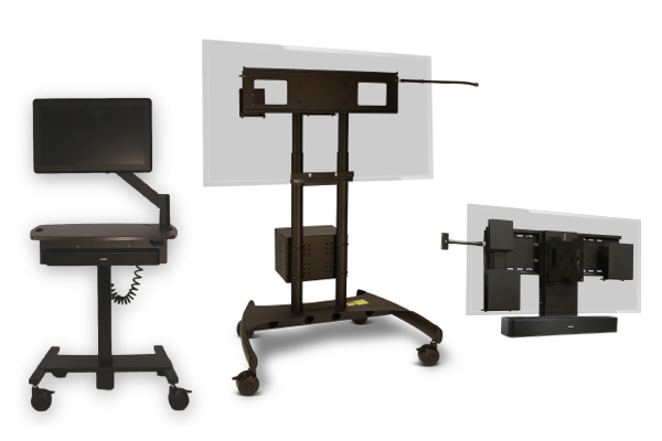 Patient Engagement Mobile Computer Carts, Patient Engagement Stands, Patient Engagement Wall Mounts, Healthcare Telehealth Workstation