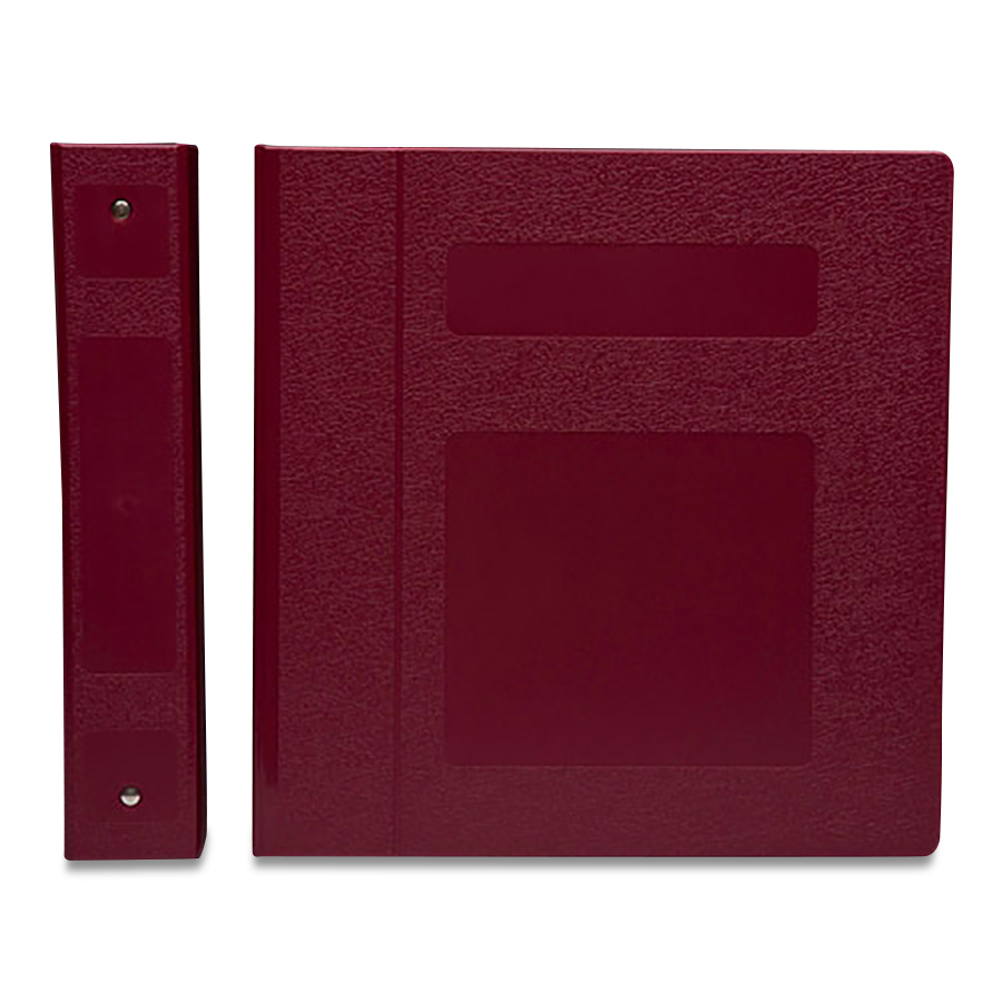 "S/O  1-1/2""BURGUNDY 5 RING BINDER"