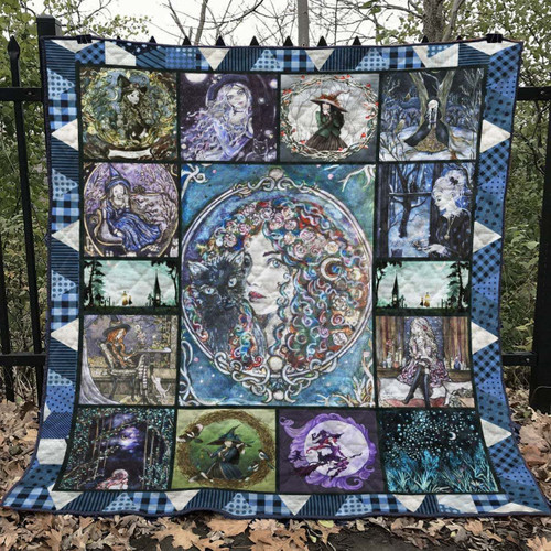 Wicca Witch Tail Aww BHJI245 3D Customized Quilt