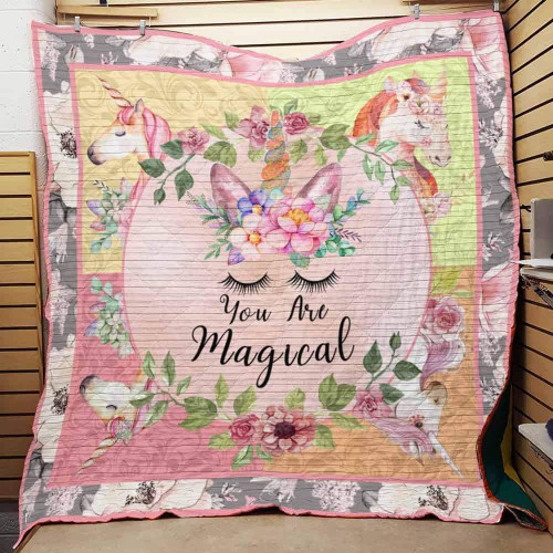 You Are Magical Unicorn STTB122 3D Customized Quilt