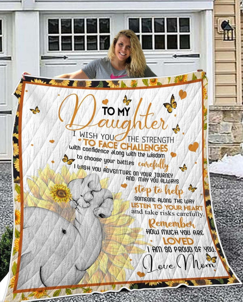 Family To My Daughter KKL110 3D Customized Quilt