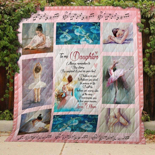 Ballet I Love You Daughter 3D Customized Quilt