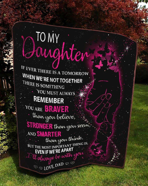 Family To My Daughter Love Dad KKL126 3D Customized Quilt