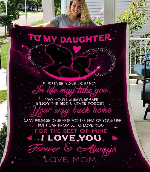 Family To My Daughter KKL121 3D Customized Quilt