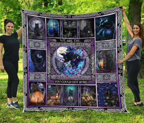 Cat Witch 3D Customized Quilt