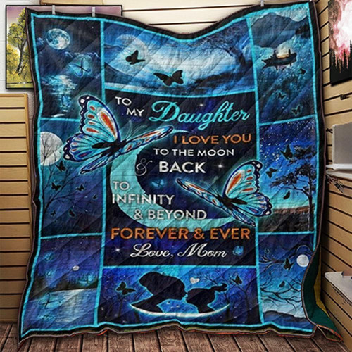 Family Mom To Daughter 3D Customized Quilt KCV2