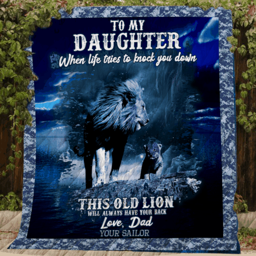 Family To My Daughter Your Sailor KKL100 3D Customized Quilt