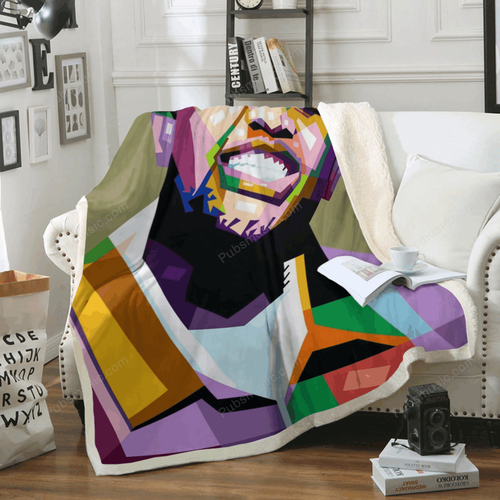 Mustard - Music Art For Fans Sherpa Fleece Blanket