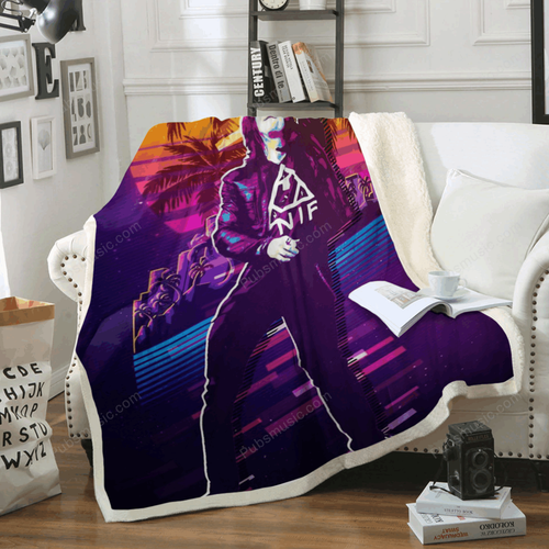 Myles Kennedy - Artwork Music Synthwave 80S Art For Fans Sherpa Fleece Blanket