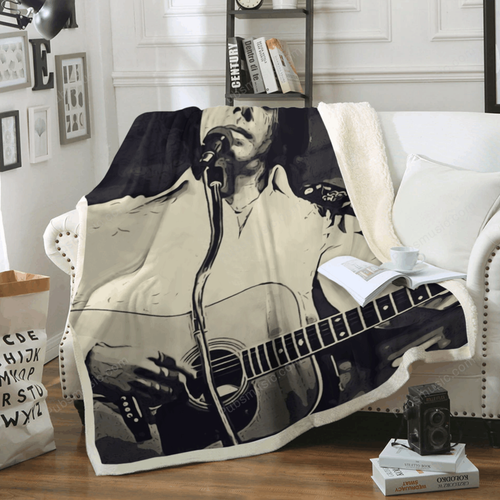 Neil Diamond Art 3 - Music Artist Art For Fans Sherpa Fleece Blanket