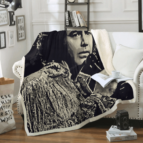 Neil Diamond Art 2 - Music Artist Art For Fans Sherpa Fleece Blanket