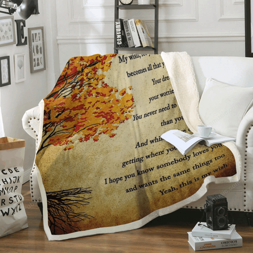 My Wish        - I Love Music Art For Fans Sherpa Fleece Blanket