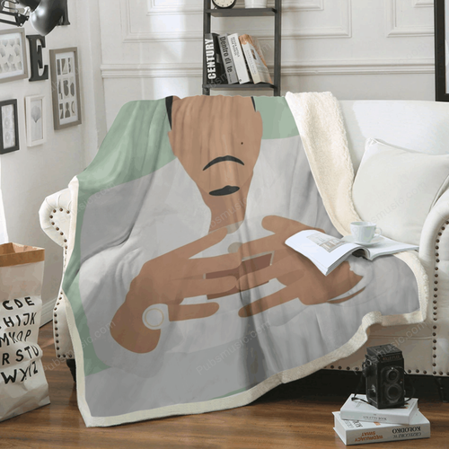 Nas - List Music Art For Fans Sherpa Fleece Blanket