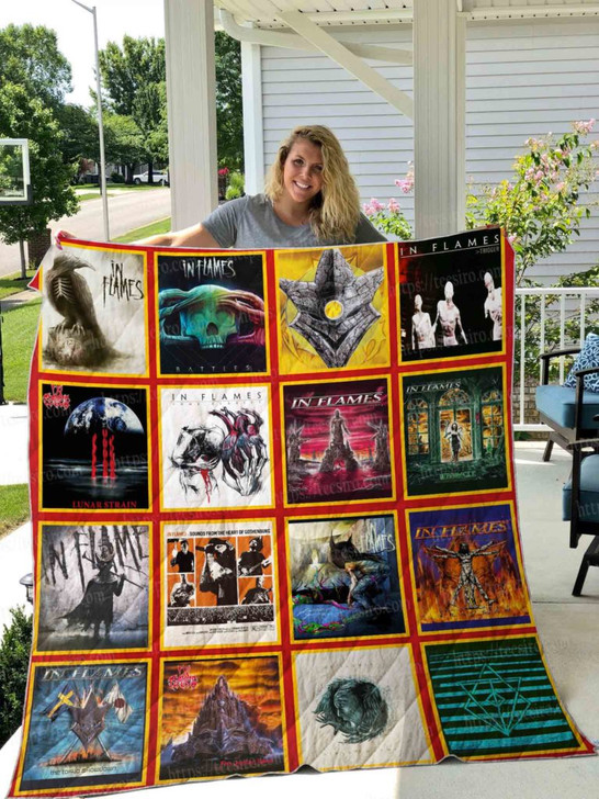 In Flames albums  3D Quilt Blanket