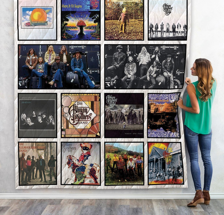 The Allman Brothers Band Albums Quilt Blanket 02 Design By Exrain.com