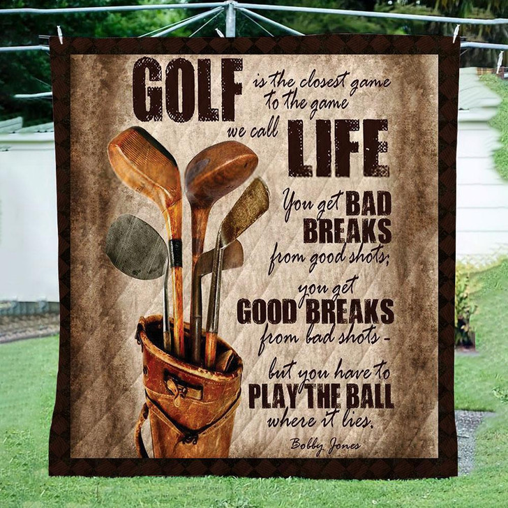 Golf Life 3D Customize Quilt Blanket Design By Exrain.com