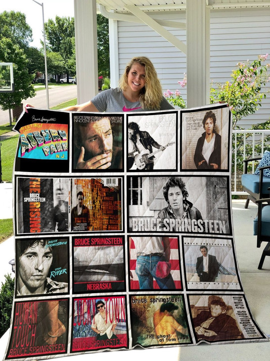 Bruce Springsteen  Customize Quilt Blanket Design By Exrain.com
