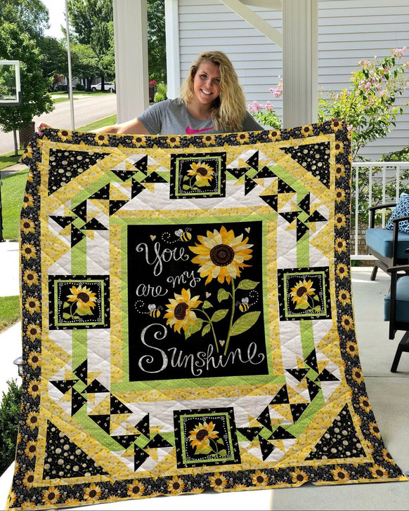 Sunflowers - You are my sunshine  Customize Quilt Blanket Design By Exrain.com