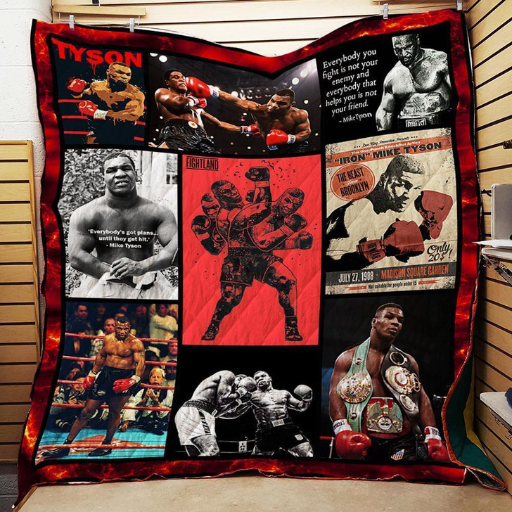 Mike Tyson Boxing  Customize Quilt Blanket Design By Exrain.com