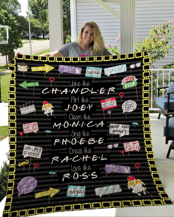 F.R.I.E.N.D.S 02 3D Customized Quilt Blanket ESR193 Design By Exrain.com