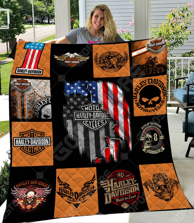Harley Davidson Like 3D Personalized Customized Quilt Blanket 1096 Design By Exrain.com