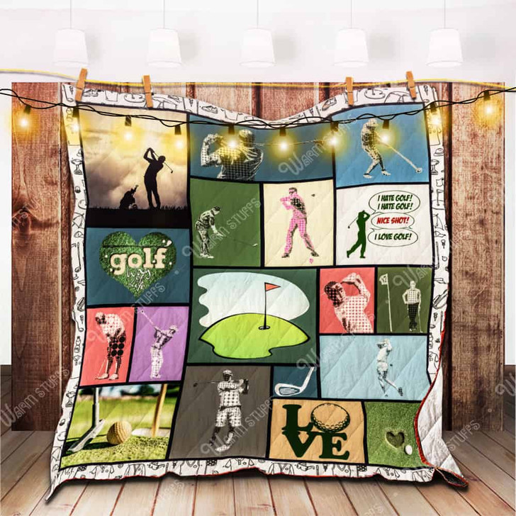 Way Of Life Golf KB 3D Personalized Customized Quilt Blanket 2694 Design By Exrain.com