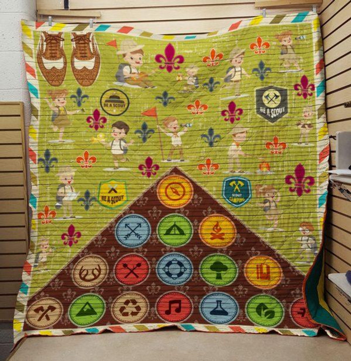 Be A Scout 3D Personalized Customized Quilt Blanket ESR15 Design By Exrain.com