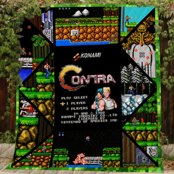 Contra 3D Personalized Customized Quilt Blanket ESR15 Design By Exrain.com