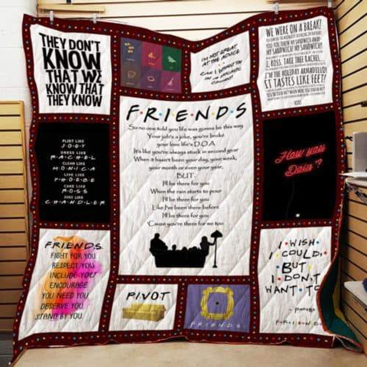 F.R.I.E.N.D.S Song P214b Pd 3D Personalized Customized Quilt Blanket ESR47 Design By Exrain.com