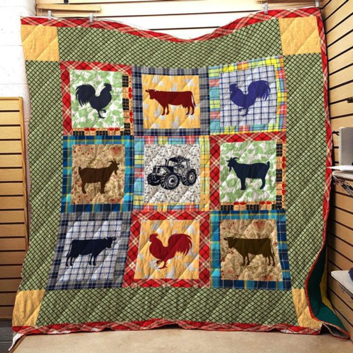 For Farmer 3D Personalized Customized Quilt Blanket ESR12 Design By Exrain.com