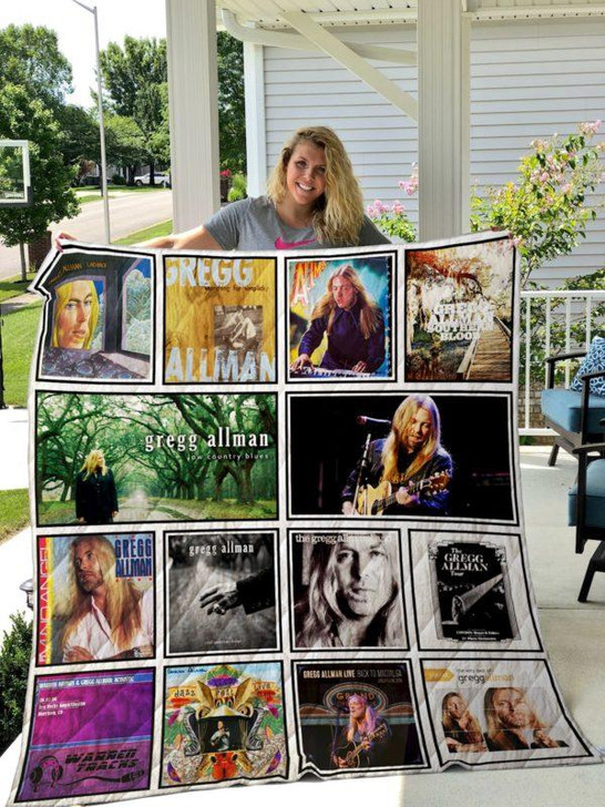 Gregg Allman 3D Personalized Customized Quilt Blanket ESR1 Design By Exrain.com