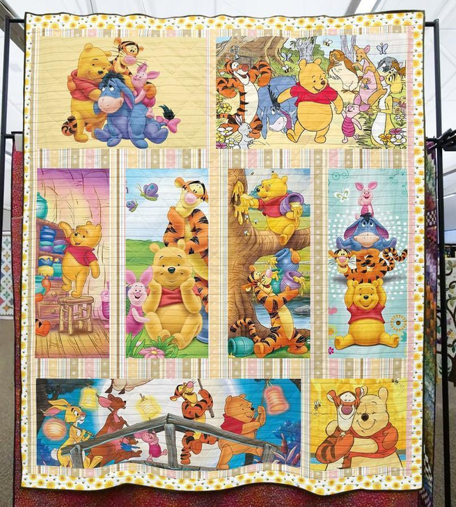 Winnie The Pooh Fabric 3d Quilt Blanket