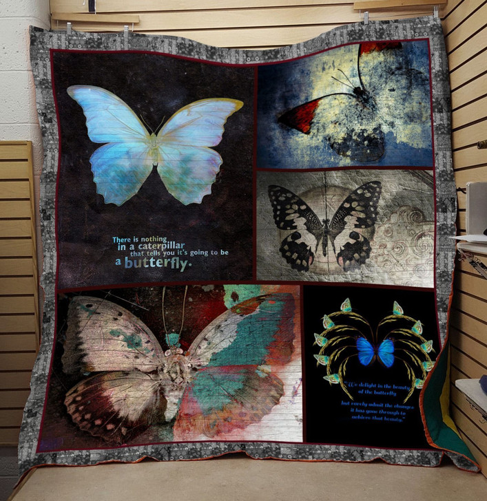 Black Butterfly Vintage Quilt On Sale!