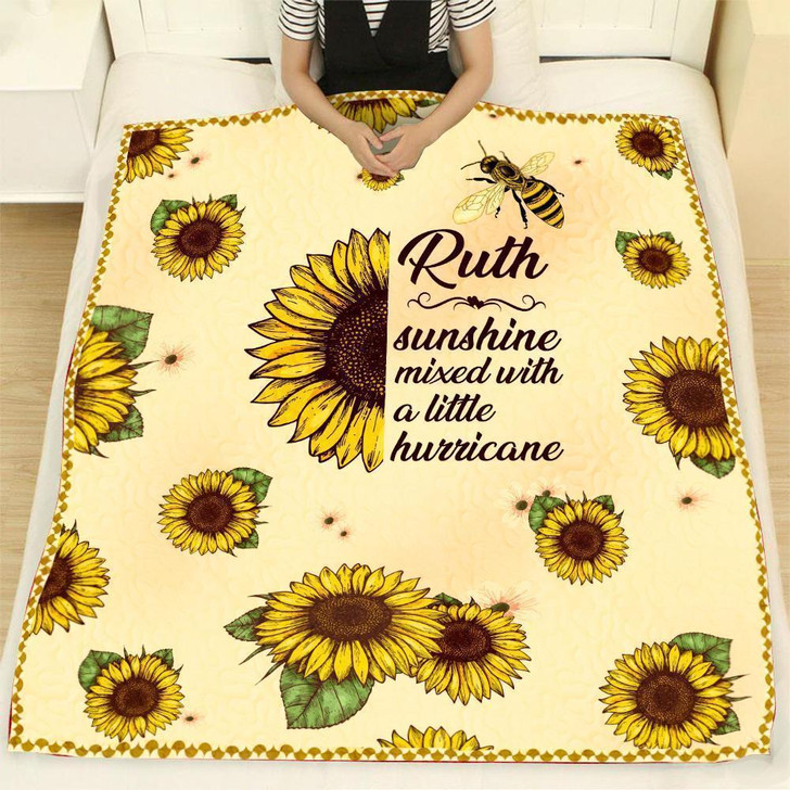 Ruth Sunflower Quilt Blanket Gift on Sale Now
