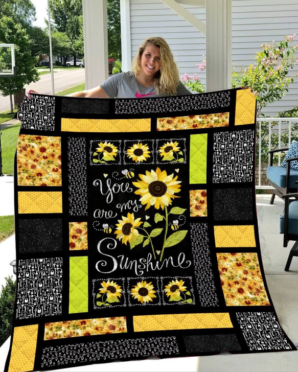 Sunflowers You are my sunshine quilt v1 On Sale!