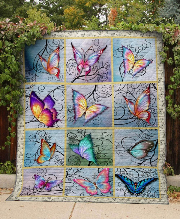 Vintage Cute Butterfly Quilt On Sale!