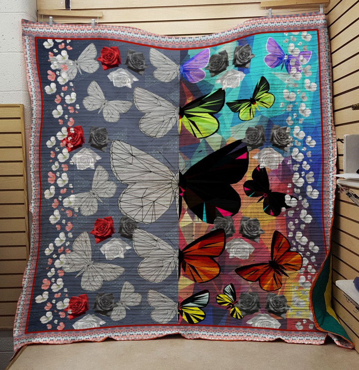 Vintage Flower Butterfly Quilt On Sale!
