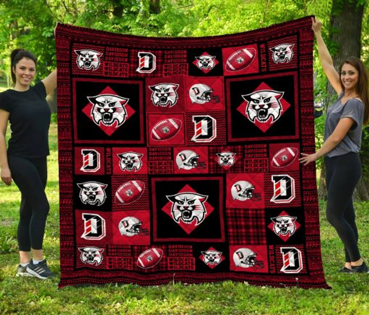 NCAA Davidson Wildcats 3D Customized Personalized Quilt Blanket #1159