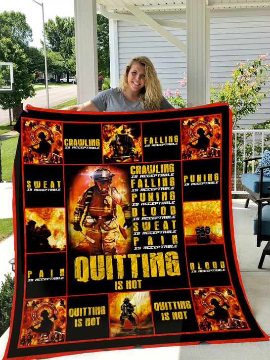 Firefighter Quilt Blanket HA0511