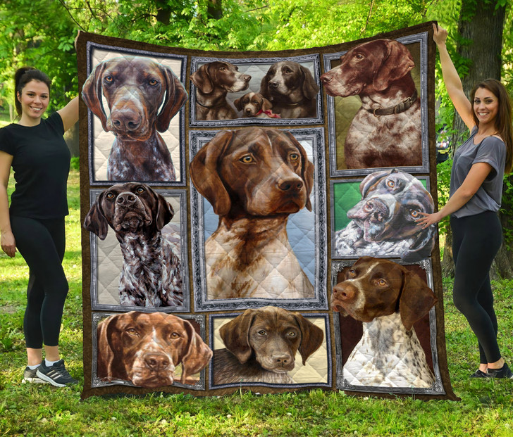 German Shorthaired Pointer Quilt Blanket HA1710