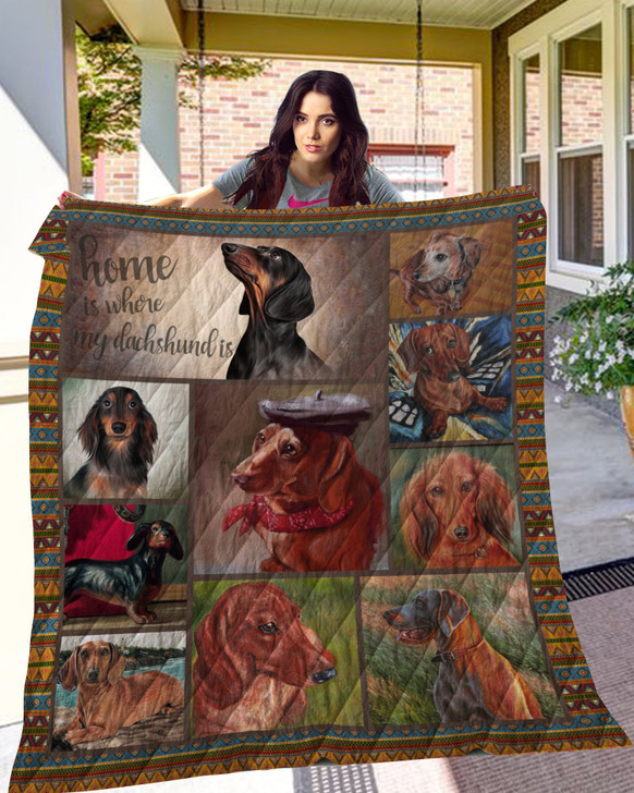 Dachshund 10 Quilt Blanket TH10072019 Fan Made