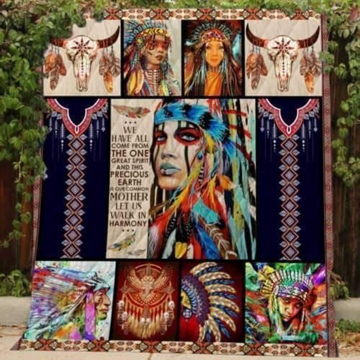 Native 3D Customized Quilt Americans