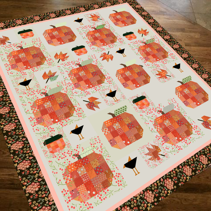 Pumpkin HUR5936 3D Customized Quilt CAMLI2407