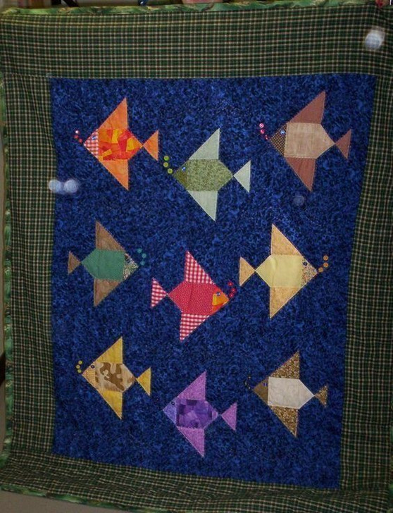 Fish HUR10895 3D Customized Quilt CAMLI2307