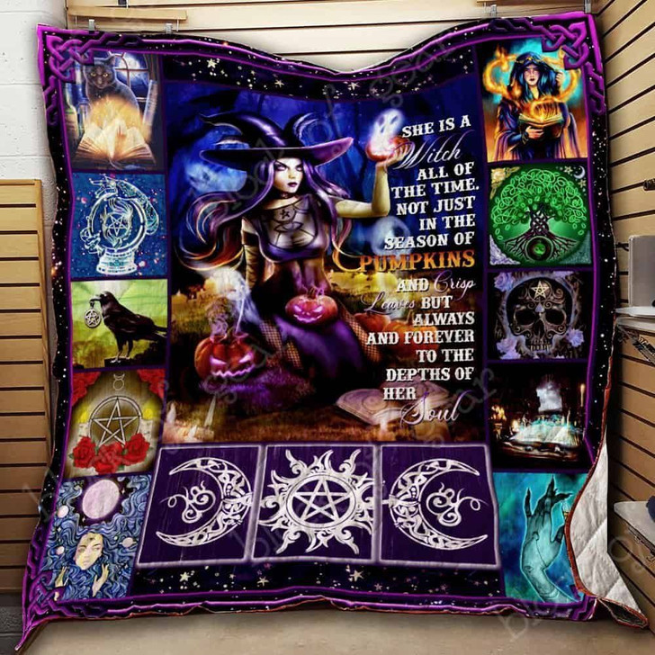 She Is A Witch All Of The Time JK225 3D Customized Quilt