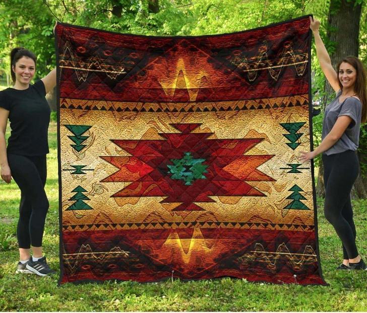 Southwest Brown Symbol Native American Premium 3D Customized Quilt
